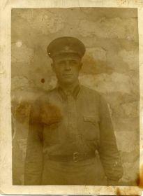 Красноармеец Скворцов Василий Иванович. 1941 г. Баку