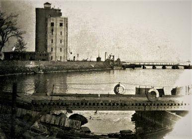 Понтонные мосты Пиллау апрель 1945 года