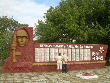 Павшим воинам-землякам_Обелиск на ст. Ярыженская, Волгоградской обл.