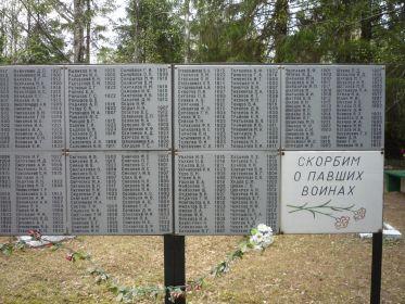 Братская могила в д. Поля, Новгородская область