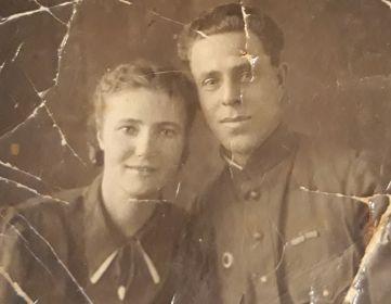 Любовь Никитична и Иван Кузьмич Елисеевы, 1944 год