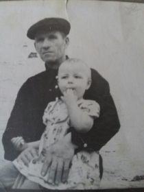 Дедушка с дочей, моей мамой