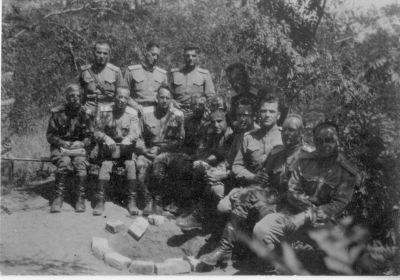 Июнь 1950 г. КУОС, Ростов-на-Дону, 19 группа. Алексей Иванович Калинин - третий справа