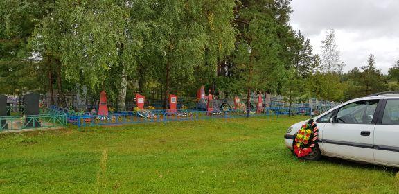 На сельском кладбище выделен участок под захоронения бойцов, погибших здесь и в окрестностях