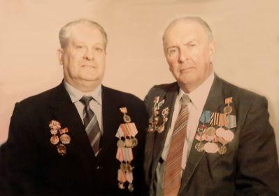 Кирюхин Николай Иванович и Сергеев Борис Елапович. 1986 г.