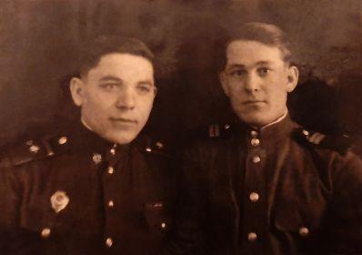 Коваль Александр Романович и Кирюхин Николай Иванович. 19 января 1948 г. станция Хунгари (Гурское)