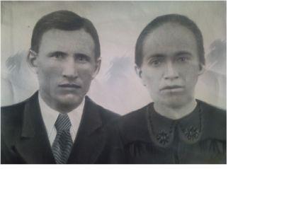 Семейное фото с женой Ксенией Тихоновной