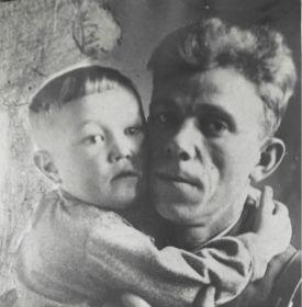 Петр Барынин с сыном