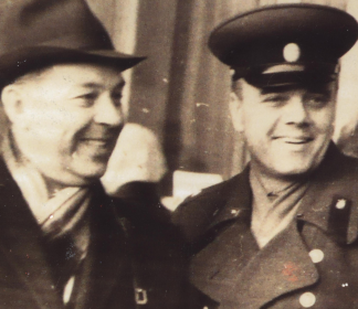 С двоюродным братом Георгием Михайловичем Родионовым