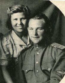 с мужем - Волковым Б.А. 1945 год