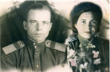 Брат - Полежаев Сергей Петрович с женой (фронтовой любовью)
