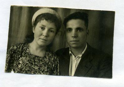 Брат - Полежаев Гранит Петрович с женой Зинаидой, дождавшейся его с войны.