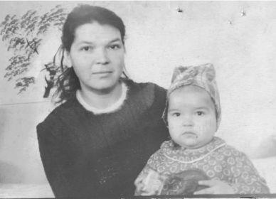 С дочерью 1950г