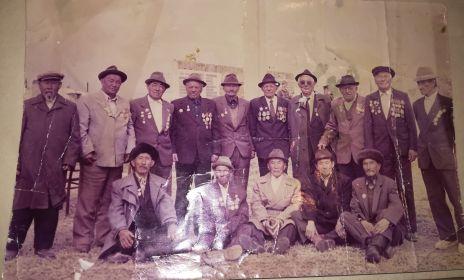9 мая 1990 год Председатель Совета Ветеранов Баянаульского района, села Кундыколь