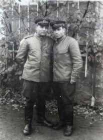 Германия-1945- Однополчане (10) (Мыльников Л.А. справа)