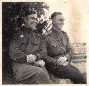 Германия-1945- Однополчане (13) (Мыльников Л.А.  слева)