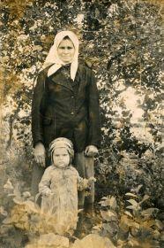 Бабушка Анна с внуком Николаем
