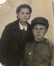 С родным братом Петром