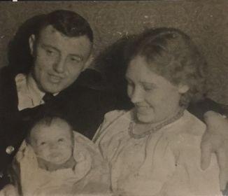 Юрин Н.И. с женой Валентиной и дочерью Татьяной