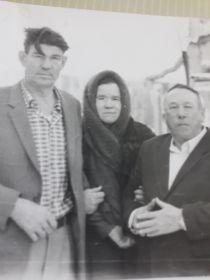 Лидия Ивановна с родными Катковым Михаилом Павловичем и Жевлаковым Виктором Ивановичем
