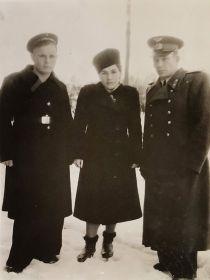 С женой Тамарой и её братом Николаем