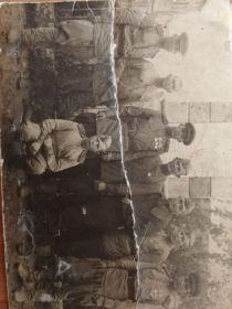 Уваров Иван Алексеевич в Румынии с батальоном