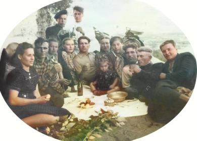 После войны, с братьями и женами.