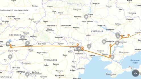 Карта боевого пути Малявина Петра Павловича в составе 3 УкрФ