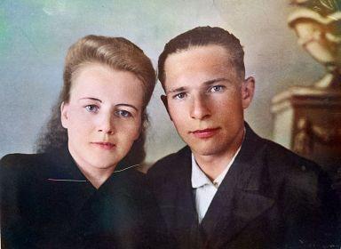 Павел Федорович Репин с женой  Анной