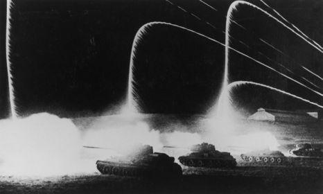 Танки в ночной атаке (Сталинград)