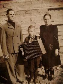 Мария Михайловна с мужем и сыном