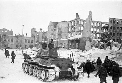 Танки 90-й тбр. в Сталинграде