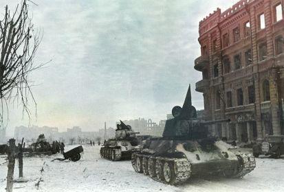 Танки 90-й тбр в Сталинграде