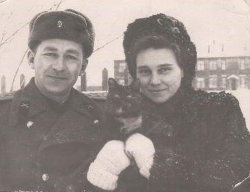 С женой Поликсеной Алексеевной