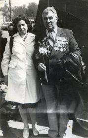 В День Победы с женой Марией