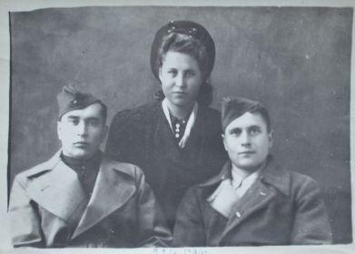 Дядя Женя, тетя Леля и папа