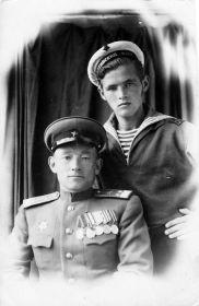 Леонид Антонович с сыном Виктором