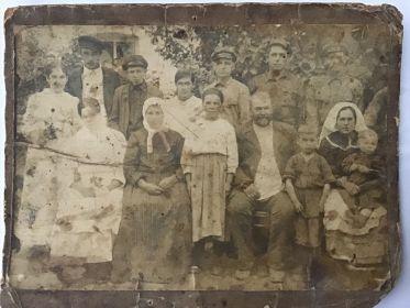 Семья Лесового Афанасия Григорьевича, 1924 г.,тестя Щербина Андрея Фроловича
