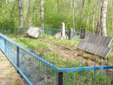 Братская могила в деревне Великуша