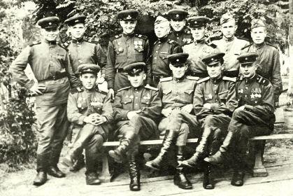 Бойцы и командиры 18 ОМЦБ (нижний ряд, слева- первый Герасимов Петр Герасимович, второй- Субботин А.В., второй справа- Мирошниченко Иван Михайлович) )