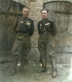 С командиром 18ГОМЦБ Коц Д.П. (справа)