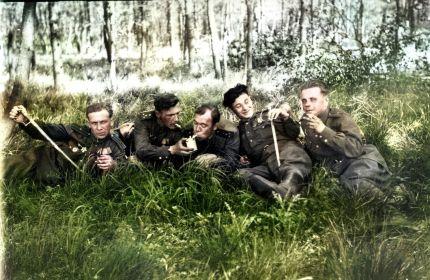 слева-направо: Погорелов А.В., Кавкин П.И., Абрамчук Д.Ф., Тиньков Н.С., неизвестен