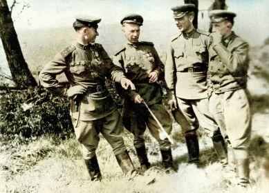 слева-направо: Тиньков Н.С., Погорелов А.В., Кавкин П.И., Коц Д.П.