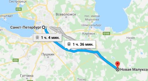 Нахождение мемориала «Новая Малукса» в Ленинградской области