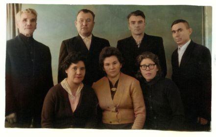 АЛЕКСАНДРОВ Георгий Федорович с сыном и дочками (жена  сына и мужья дочерей)