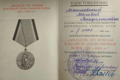 Двадцать лет победы в Великой Отечественной войне 1941-1945