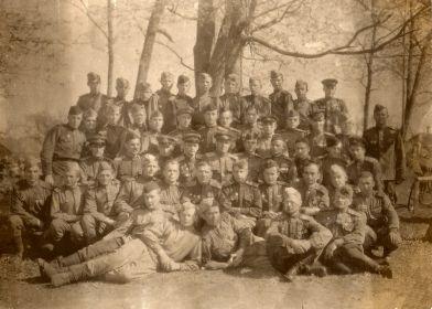 Сослуживцы из Гвардейской Ленинградской части. Июнь 1946 г.