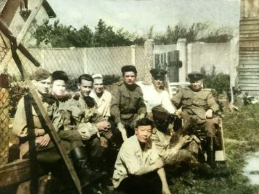 май 1945г. справа- командир бригады Зленко Михаил Кузьмич, Козлов Михаил Андреевич, замполит Постригань Василий Михайлович