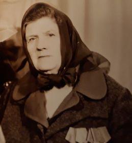 Анастасия Егоровна Шареева (Лысова) в 1986 г.