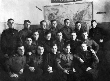 12 БАП 334БАД. 1944.04. Дягилево. Стрелки-радисты. Фото из архива семьи Мордашова Б. Т.